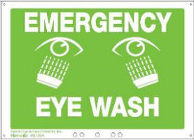 fend-all eyewash sign