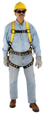 msa workman construction harness