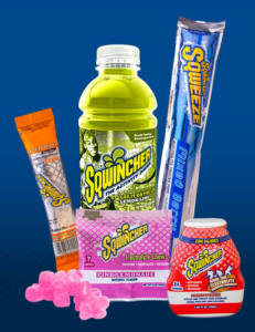 Sqwincher activity drinks